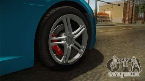 Audi R8 Coupe 4.2 FSI quattro US-Spec v1.0.0 v2 pour GTA San Andreas vue arrière