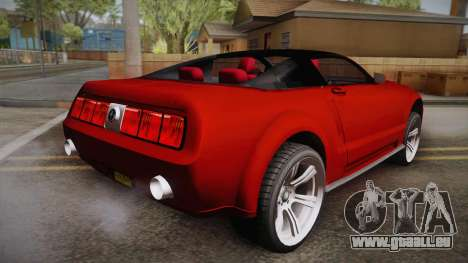 Ford Mustang 2005 pour GTA San Andreas laissé vue