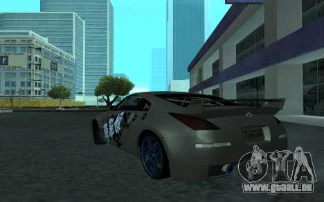 Nissan 350Z pour GTA San Andreas vue de dessus