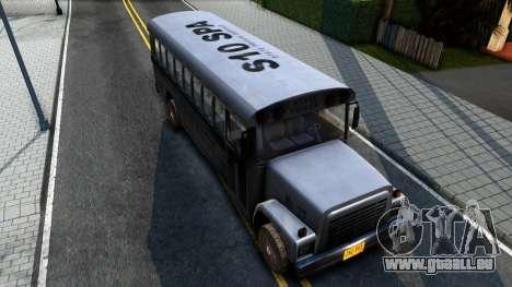 Prison Bus Driver Parallel Lines pour GTA San Andreas vue arrière