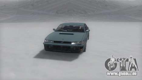 Sultan Winter IVF pour GTA San Andreas sur la vue arrière gauche