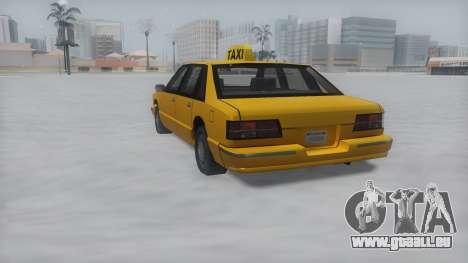 Taxi Winter IVF für GTA San Andreas linke Ansicht