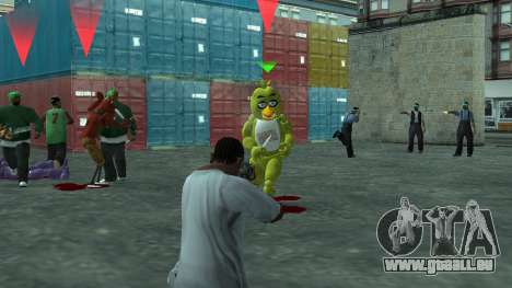 Five Nights At Freddys für GTA San Andreas fünften Screenshot