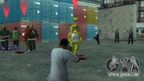 Five Nights At Freddys für GTA San Andreas fünften Screenshot