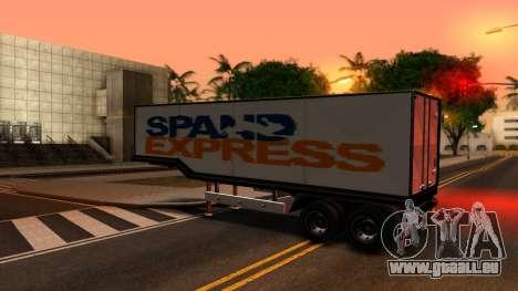 Box Trailer V2 pour GTA San Andreas laissé vue