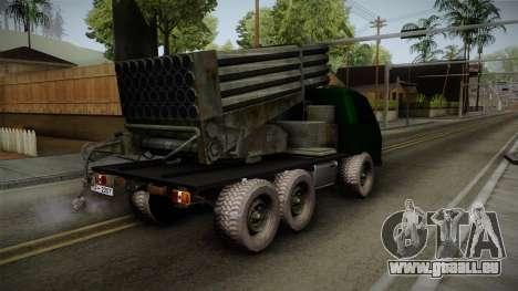 TAM 110 Serbian Military Vehicle pour GTA San Andreas laissé vue