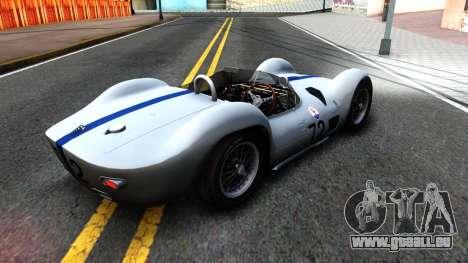 Maserati Tipo 61 pour GTA San Andreas sur la vue arrière gauche
