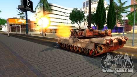 M1A1 Abrams COD4MW Remastered für GTA San Andreas rechten Ansicht