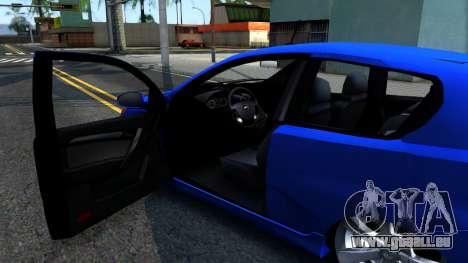 Chevrolet Aveo 2012 pour GTA San Andreas vue intérieure