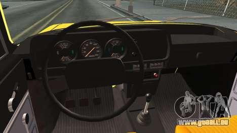AZLK 412 pour GTA San Andreas vue intérieure