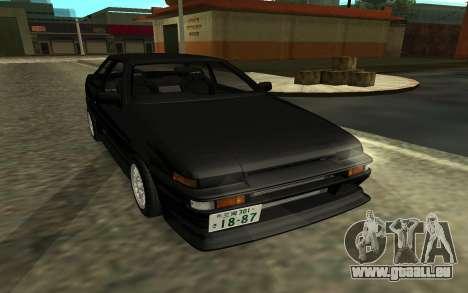 Toyota Corolla Levin (AE86) pour GTA San Andreas