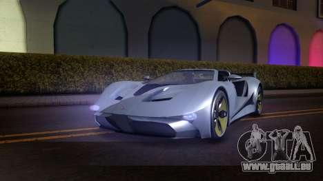 GTA V Vapid FMJ Roadster für GTA San Andreas Rückansicht