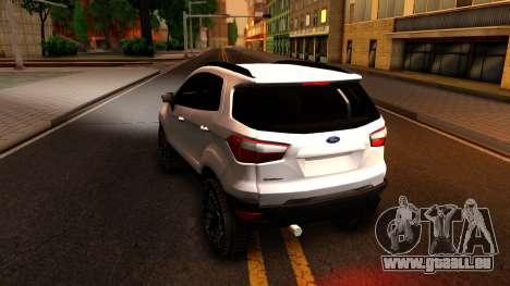 Ford EcoSport 2016 pour GTA San Andreas sur la vue arrière gauche