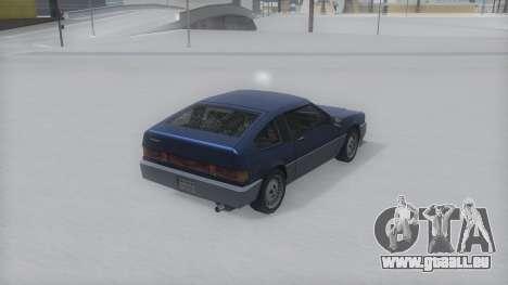 Blista Compact Winter IVF pour GTA San Andreas laissé vue