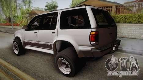 Ford Explorer 1996 Drag pour GTA San Andreas laissé vue
