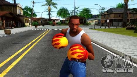 Red With Flames Boxing Gloves Team Fortress 2 pour GTA San Andreas troisième écran