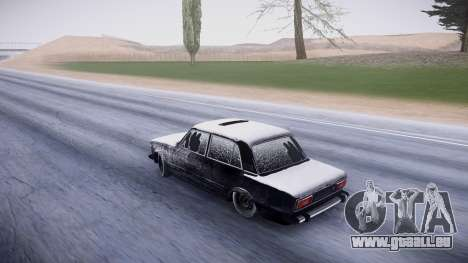 VAZ 2106 winter-version für GTA San Andreas zurück linke Ansicht