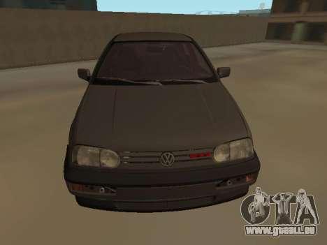 Volkswagen Golf 3 pour GTA San Andreas sur la vue arrière gauche