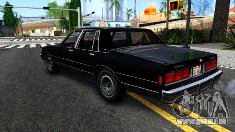 Chevrolet Caprice Brougham 1986 pour GTA San Andreas vue de droite