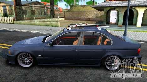 BMW e39 530d pour GTA San Andreas laissé vue