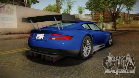 Aston Martin Racing DBR9 2005 v2.0.1 Dirt für GTA San Andreas linke Ansicht