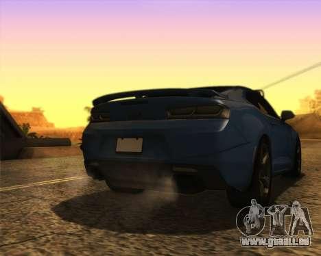 Chevrolet Camaro SS Xtreme pour GTA San Andreas laissé vue