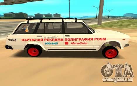 VAZ 2104 BK pour GTA San Andreas sur la vue arrière gauche