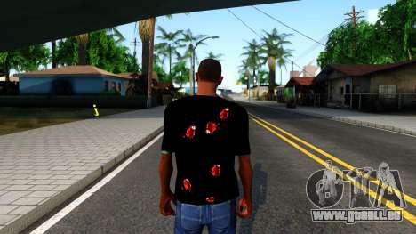 Black I am Fine T-Shirt für GTA San Andreas dritten Screenshot