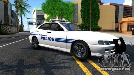 1998 Dinka Chavos Montgomery Police Department pour GTA San Andreas laissé vue