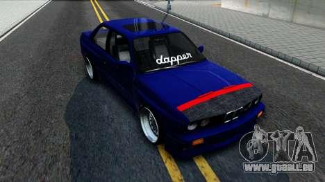 BMW E30 für GTA San Andreas Rückansicht