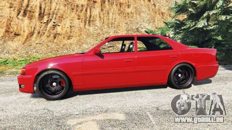 GTA 5 Toyota Chaser (JZX100) cambered [add-on] vue latérale gauche