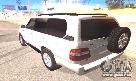 Toyota Land Cruiser 100 für GTA San Andreas linke Ansicht