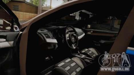 Mitsubishi Lancer Evo X De La Police pour GTA San Andreas vue de droite