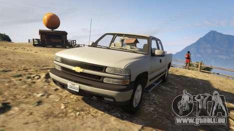 GTA 5 2000 Chevrolet Silverado 1500 hinten rechts