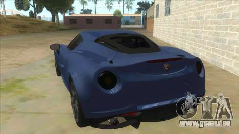 Alfa Romeo 4C für GTA San Andreas zurück linke Ansicht