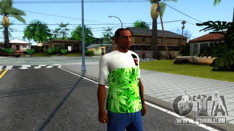 Design Weedleaves T-Shirt für GTA San Andreas zweiten Screenshot