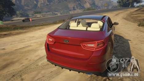 GTA 5 KIA Optima 2014 hinten links Seitenansicht