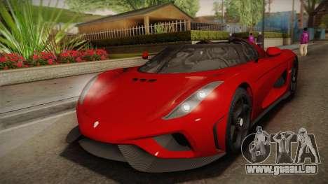 Koenigsegg Regera 2016 pour GTA San Andreas
