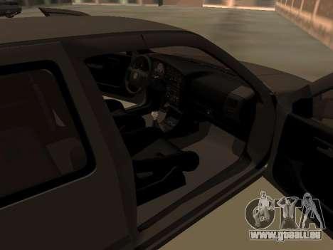 Volkswagen Golf 3 pour GTA San Andreas vue intérieure
