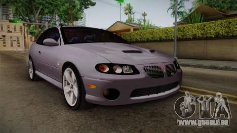 Pontiac GTO Hot Wheels NASCAR PJ pour GTA San Andreas