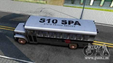Prison Bus Driver Parallel Lines für GTA San Andreas rechten Ansicht