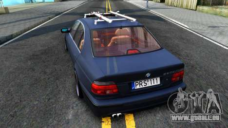 BMW e39 530d pour GTA San Andreas sur la vue arrière gauche