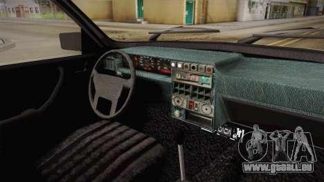 Dacia 1310 Berlina Tunata pour GTA San Andreas vue intérieure
