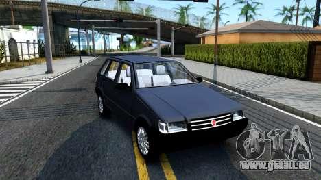 Fiat Uno Fire Mille V1.5 pour GTA San Andreas laissé vue