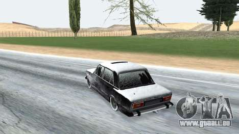 VAZ 2106 winter-version für GTA San Andreas rechten Ansicht