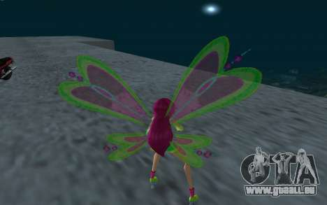 Fairy Roxy from Winx Club Rockstars für GTA San Andreas dritten Screenshot