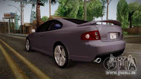 Pontiac GTO Hot Wheels NASCAR PJ pour GTA San Andreas sur la vue arrière gauche