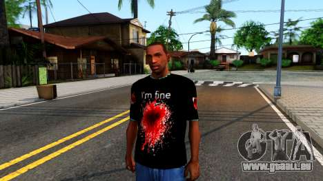 Black I am Fine T-Shirt für GTA San Andreas