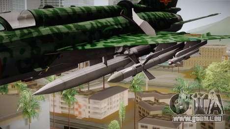 MIG-21 Norvietnamita für GTA San Andreas zurück linke Ansicht