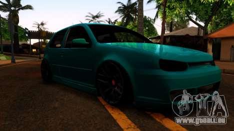 VW Golf 4 für GTA San Andreas Rückansicht